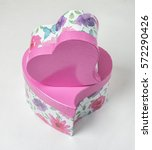 two pink gift boxes heart...   Shutterstock . vector #572290426