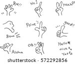 hand gestures and sign | Shutterstock .eps vector #572292856