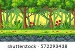 seamless cartoon nature...   Shutterstock .eps vector #572293438