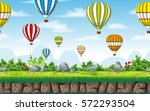 seamless nature background with ... | Shutterstock .eps vector #572293504