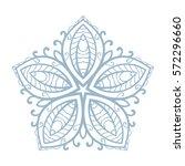 pentagonal ornamental mandala ... | Shutterstock .eps vector #572296660