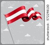 austrian flag wavy abstract... | Shutterstock .eps vector #572298130