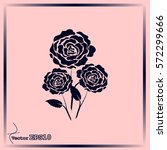 rose vector icon | Shutterstock .eps vector #572299666