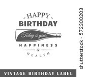birthday label isolated on... | Shutterstock .eps vector #572300203