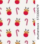 reindeer candy seamless... | Shutterstock .eps vector #572300479