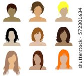 collection of women with... | Shutterstock . vector #572301634