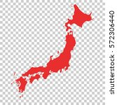 japan vector map on isolated... | Shutterstock .eps vector #572306440