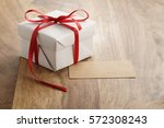 White Paper Gift Box With Thin...