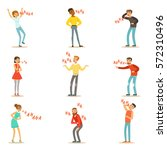 adults hysterically laughing... | Shutterstock .eps vector #572310496