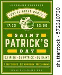 saint patrick's day retro... | Shutterstock .eps vector #572310730