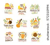 touristic travel agency set of... | Shutterstock .eps vector #572310994
