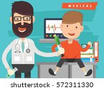 doctor and medical concept... | Shutterstock .eps vector #572311330