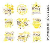 natural honey products 100...   Shutterstock .eps vector #572311333