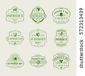 happy saint patricks day retro... | Shutterstock .eps vector #572313439