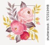 vector watercolor illustration ... | Shutterstock .eps vector #572313448