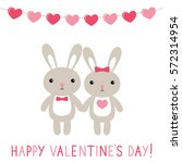 valentine's day card with... | Shutterstock .eps vector #572314954