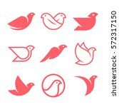 flying bird symbols and vector... | Shutterstock .eps vector #572317150