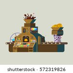 chocolate factory vector... | Shutterstock .eps vector #572319826