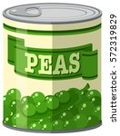 green peas in aluminum can... | Shutterstock .eps vector #572319829
