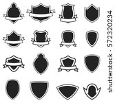 set of the empty emblems... | Shutterstock .eps vector #572320234