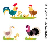 set of popular colorful vector... | Shutterstock .eps vector #572324110