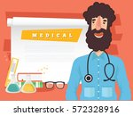 doctor and medical concept... | Shutterstock .eps vector #572328916