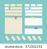 sticky  adhesive masking tape ... | Shutterstock .eps vector #572332153