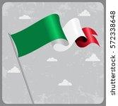 italian flag wavy abstract... | Shutterstock .eps vector #572338648