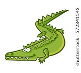 funny crawling crocodile  ... | Shutterstock .eps vector #572341543