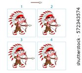animation of native boy in 4... | Shutterstock .eps vector #572343574