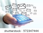 concept view of sending email...   Shutterstock . vector #572347444