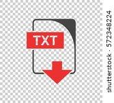 txt icon vector flat