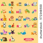 cute english illustrated zoo... | Shutterstock .eps vector #572348500