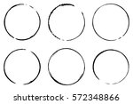set of six cofee ring stains.... | Shutterstock .eps vector #572348866