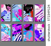 set of artistic colorful... | Shutterstock .eps vector #572349124