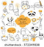 spring doodle collection.... | Shutterstock .eps vector #572349838