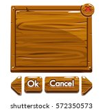 set cartoon brown wooden assets ...