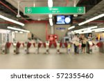 Blurred Image Of People A The...