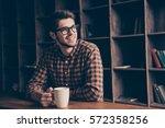 portrait of handsome manager... | Shutterstock . vector #572358256
