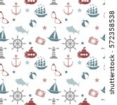 vector seamless pattern with... | Shutterstock .eps vector #572358538