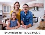 portrait of happy parents and... | Shutterstock . vector #572359273