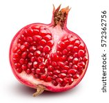 pomegranate isolated on white... | Shutterstock . vector #572362756