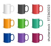 vector set of realistic colored ... | Shutterstock .eps vector #572363323