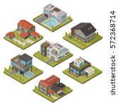 isolated colored and isometric... | Shutterstock .eps vector #572368714