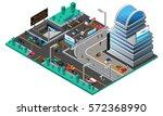 futuristic cityscape isometric... | Shutterstock .eps vector #572368990