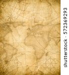 aged pirates treasure map... | Shutterstock . vector #572369293