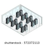 datacenter server cloud... | Shutterstock .eps vector #572372113