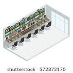 video tv broadcast studio... | Shutterstock .eps vector #572372170
