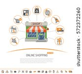 online internet shopping... | Shutterstock .eps vector #572372260