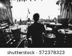 band silhouette | Shutterstock . vector #572378323